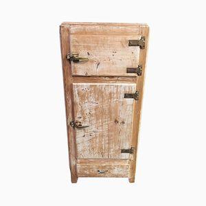 Ehemaliger Vintage Eisschrank aus Holz