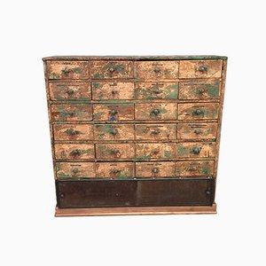 Vintage Workshop Cabinet with 24 Drawers