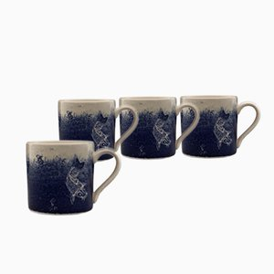 Ink'd Mugs by Kiki van Eijk, Set of 4