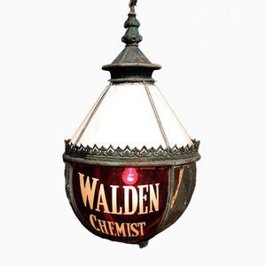 Antique Walden Chemist Globe Lantern