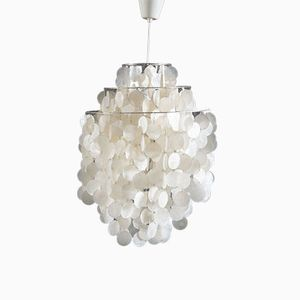 Fun 1 DM Capize Shell Chandelier by Verner Panton for Luber