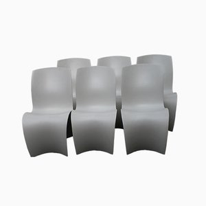 Three Skin Chairs by Ron Arad for Moroso, 2004, Set of 6