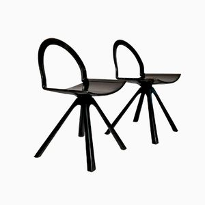 Sculptural Italian Postmodern Chairs, Set of 2