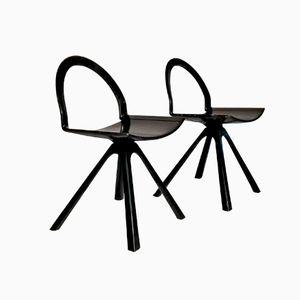 Skulpturelle Italienische Postmoderne Stühle, 2er Set