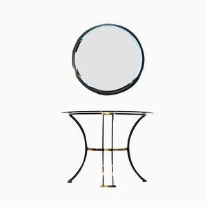 Konsolentisch & Spiegel von Belgochrom, 2er Set
