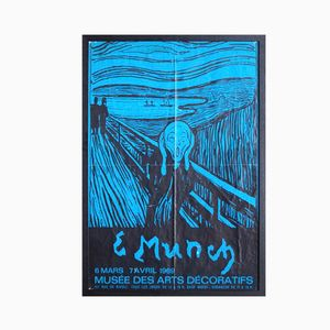 French Edvard Munch Exhibition Poster, 1969
