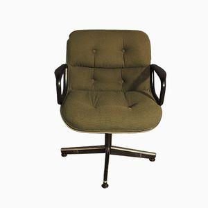 Amerikanischer Sessel aus Metall & Wolle von Charles Pollock für Knoll, 1960er