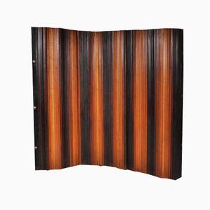 Zweifarbiger Klappbarer Raumteiler aus Holz von Davids & Co, 1930er