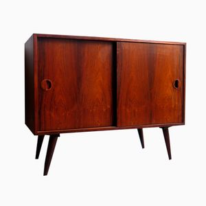 Danish Rosewood Sideboard with Sliding Doors