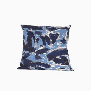 Cuscino dipinto bicolore di Naomi Clark per Fort Makers