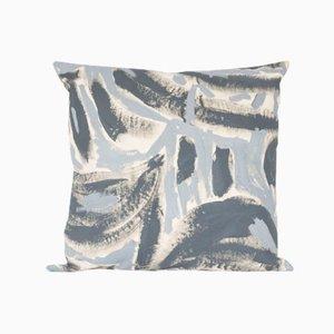 Coussin Bicolore Peint Gris par Naomi Clark pour Fort Makers