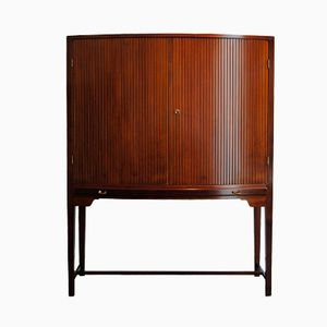 Curved Highboy Cabinet by Ole Wanscher for Illums Bolighus, 1940s