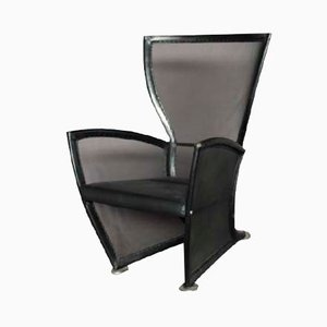 Italian Vintage Leather Lounge Chair by Paolo Nava, 1970s