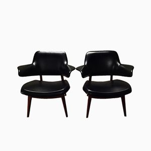 Easy Chairs by Louis van Teeffelen for Wébé, Set of 2