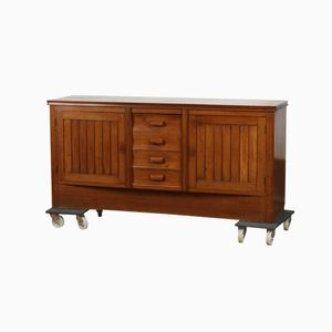 Wheeled Oak Sideboard