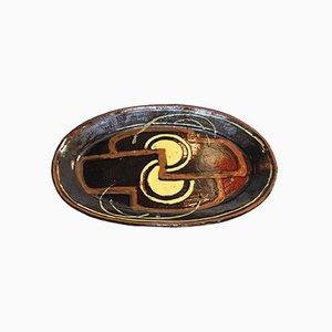 Französischer Teller aus Glasierter Keramik von Anne Dangar, 1930er