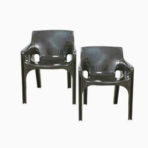 Darkbrown Gaudi Chairs by Vico Magistretti for Artemide, Set of 2
