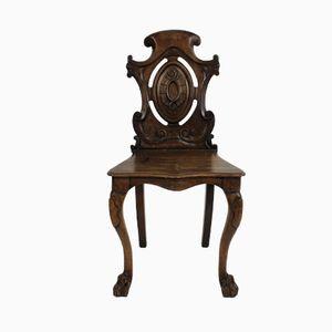 Englischer Eingangshallen Stuhl aus Mahagoni