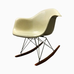 Beige RAR Rocking Chair by Charles & Ray Eames for Fehlbaum