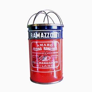 Italian Brass and Steel Ramazzotti Floor Lamp from Trevu Italiana, 1960s