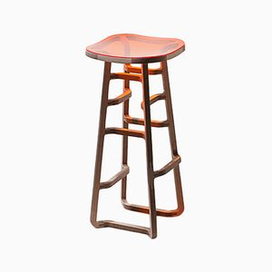 Woodini One-of-a-Kind Bar Stool by Bakery Studio