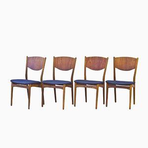Stühle von Henry Rosengren Hansen für Brande Møbelindustri, 4er Set