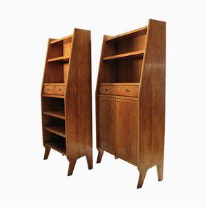 Italian Bookcase, 1950s, Set of 2