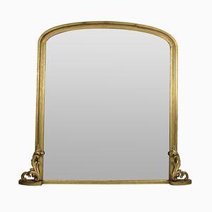 Grand Miroir avec Cadre Doré à l'Eau