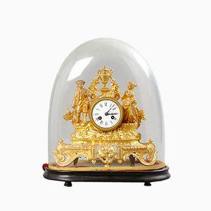Orologio Mantel dorato, inizio XIX secolo