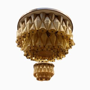 Chandeliers by Carlo Scarpa for Venini, Set of 2