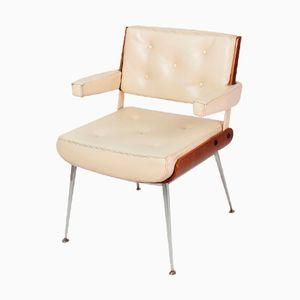 Französische Stühle aus Chrom und Mahagoni von Alain Richard, 1970er