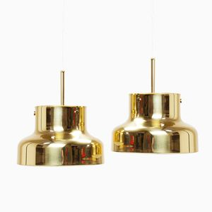 Swedish Brass Bumling Lamps by Anders Pehrson for Ateljé Lyktan, 1960s, Set of Two
