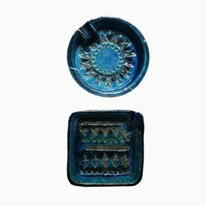 Rimini Blue Series Aschenbecher von Aldo Londi für Bitossi, 1970er, 2er Set