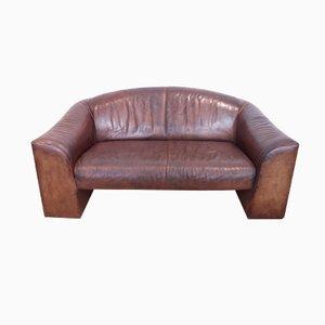 Brauner Vintage Zwei-Sitzer Sofa von De Sede, 1970er