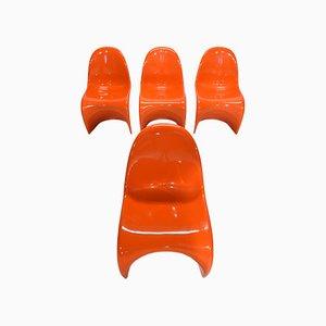 Chaises Panton par Verner Panton pour Herman Miller, 1970s, Set de 4