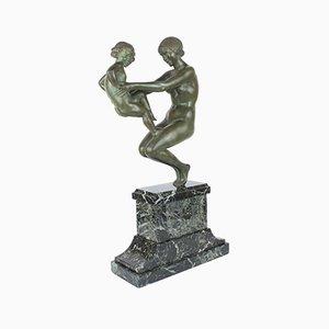Scultura Art Déco in bronzo di Pierre Le Faguays, Francia, 1925