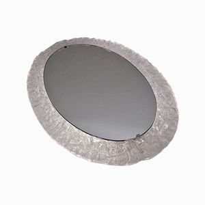 Ovaler Beleuchteter Lucite Spiegel von Erco, 1970er