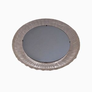 Circular Illuminated Mirror by Hillebrand, 1970s