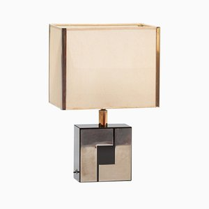 French Formica and Chrome Table Lamp