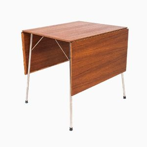Danish Model 3601 Drop-Leaf Table by Arne Jacobsen for Fritz Hansen, 1953