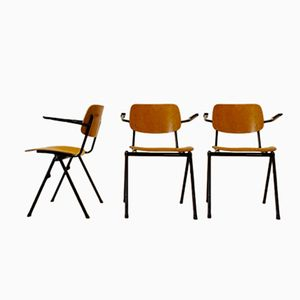 Industrial Plywood Schoolchairs from Marko, 1960s, Set of 3
