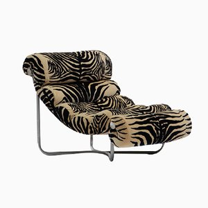 Glasgow Steel and Fabric Lounge Chair by Georges van Rijck, 1960s