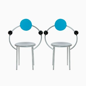 First Chair by Michele De Lucchi for Memphis Milano, 1990s, Set of 2