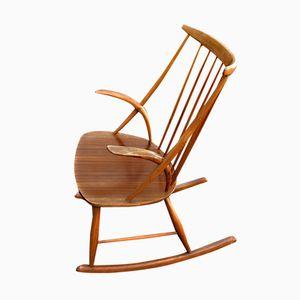 Rocking Chair No. 3 Mid-Century par Illum Wikkelsø pour N. Eilersen