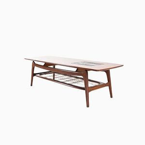 Coffee Table with Ravelli Tiles by Louis van Teeffelen for WeBe, 1960s