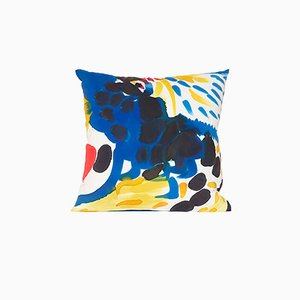 Multicolored Square Parrot Pillow by Naomi Clark for Fort Makers