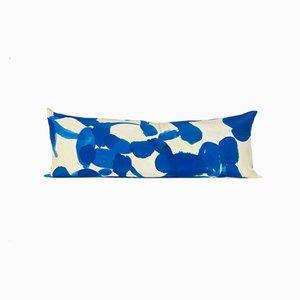 Cuscino serpente Molecule giallo e blu di Naomi Clark per Fort Makers