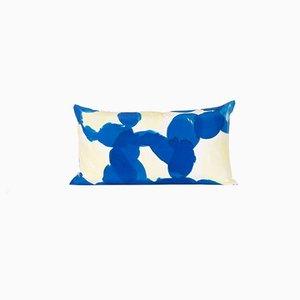 Oreiller Bleu et Jaune Blue par Naomi Clark pour Fort Makers