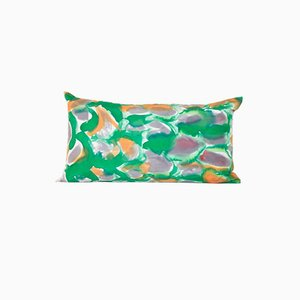 Green Scale Lumbar Pillow by Naomi Clark for Fort Makers