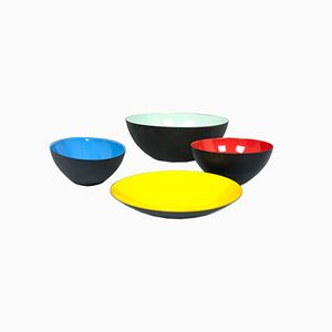 Colored Bowls by Herbert Krenchel for Krenit, 1953, Set of 4